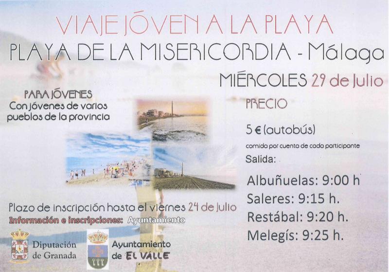 Cartel playa misericordia